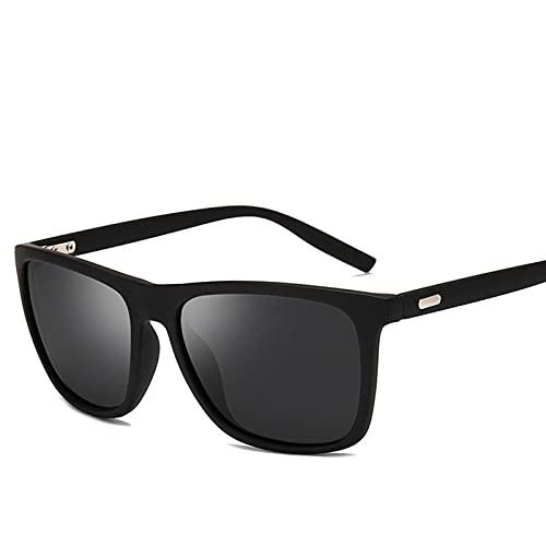 MVAOHGN Gafas de Sol Hombres/Mujeres polarizadas Espejo Cuadrado conduciendo Gafas de Sol Hombres Retro clásico Vintage Conductor Gafas UV400 (Lenses Color : C2)