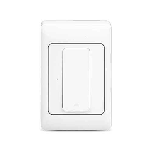zemismart Interruptor de luz zemisamrt,habilitado para WiFi,compatível com Alexa echo Google Assistant,LED/interruptor incandescente, sem necessidade de hub, fio neutro (1 Gang)