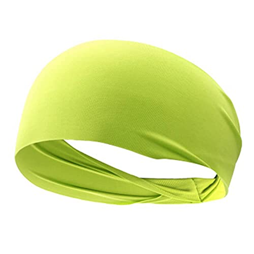 PPLAX Yoga Stirnband Elastisches Yoga Stirnband Sport Armband Damen/Männer Laufen Sport Hairband Stirnband Outdoor Fitness Sport Armband Sportbandage (Color : Yellow)