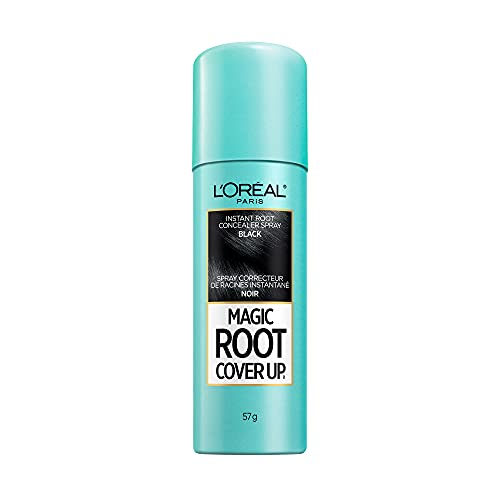 L'Oreal Paris Magic Root Cover Up Gray Concealer Spray Black 2 oz.(Packaging May Vary)