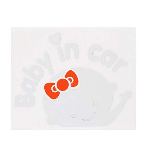 Candyboom Creativo 17 * 14 cm Bebé a Bordo Bebé en el Coche Etiqueta autoadhesiva Reflectante Impermeable Etiqueta del Coche en el Parabrisas Trasero