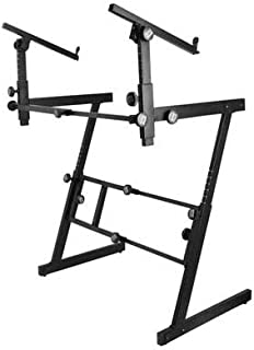 On-Stage KS7365EJ Pro Heavy-Duty Folding-Z Keyboard Stand with 2nd Tier