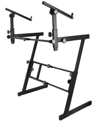 On-Stage KS7365EJ Pro Keyboard-Ständer mit 2 Ebenen, strapazierfähig