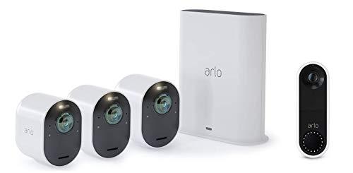 Arlo Ultra   4K HDR Pack de 3 Vision Nocturne Coloreée...