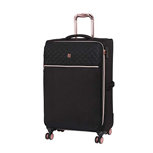 it luggage Divinity 8 Wheel Lightweight Semi Expander Medium With Tsa Lock Suitcase, 90 L, Black