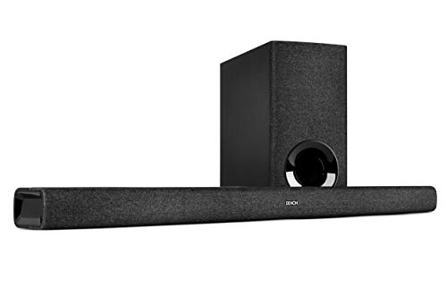 Denon DHT-S416 - Soundbar TV 2.1 con subwoofer wireless, Google Chromecast integrato, Wi-Fi, Bluetooth, Dolby Digital, HDMI ARC, ingresso ottico