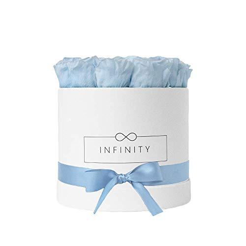 Infinity Flowerbox Witte doos Large Baby Blue.