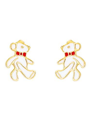 Ohrringe Wandern Weiße Bär Ohr Ohrstecker Süße Kleine Süße Ohrringe Schüler Mädchen