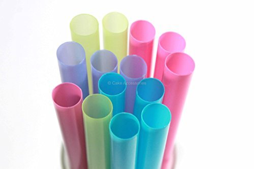 EFFEMIGIENE Cannucce Colorate per Smoothie, Frappè Diametro 10 mm, 250 Pezzi,