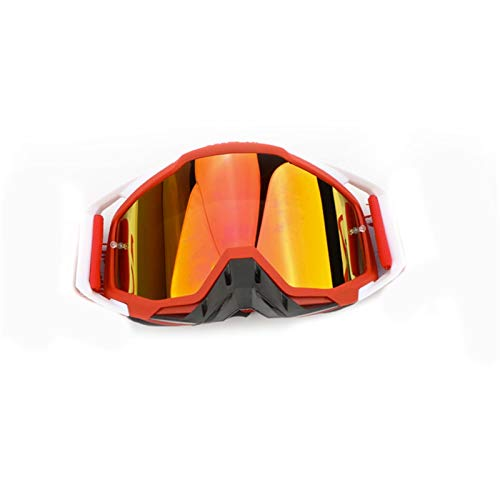 Motocross Goggles Motorcycle Helmet Cycling Glasses Bike Sunglasses Safety Goggles Ski Yellow (Color : Red)