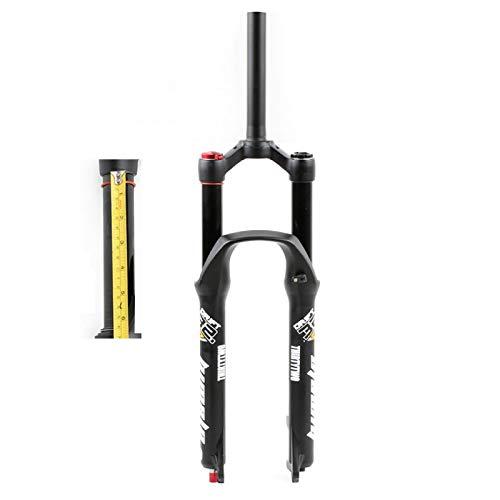 Horquilla de Suspensión Bicicleta MTB 26 Pulgadas 27,5'29 ER, Aleación Aluminio 1-1/8' Tubo Dirección Amortiguador Bici Horquilla Viaje 160mm (Color : Shoulder Control, Size : 26inch)