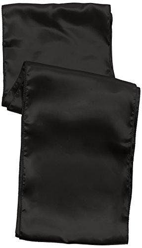 Club Green satiné Chaise Cravate, Noir, 230 mm x 3 m