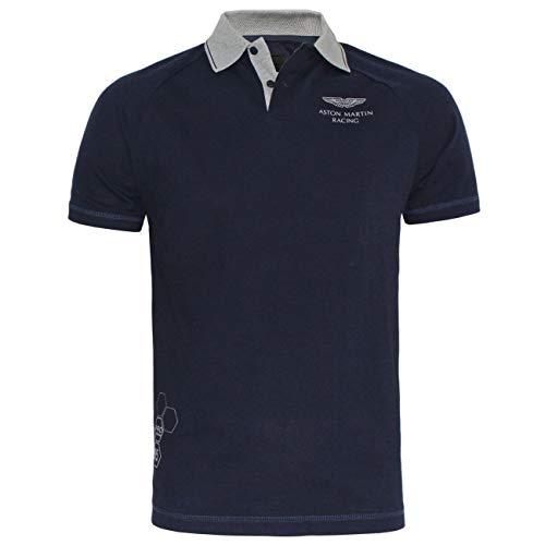 Photo of Hackett Men Aston Martin Racing Raglan Detail Collar Polo T-Shirt Slim Fit (XXL, Navy)
