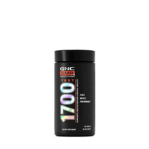 GNC AMP Test 1700, 120 Tablets, Testosterone and Libido Support + Fuels Muscle Performance