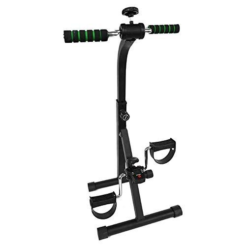 TQJ Maquina de Pedales Sentada Pedal ejercitador - plegable portátil de pie, mano, brazo, pierna ejercicio de pedaleo Máquina - plegable bicicleta estacionaria Pedaler, Fitness Gym Equipment Rehab Máq