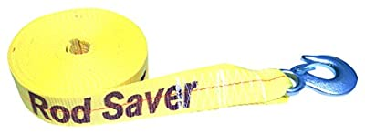 Rod Saver Heavy Duty Replacement Winch Strap, 20', Yellow