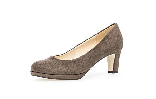 Gabor 91-260 Schuhe Damen Microvelour Plateau Pumps Weite F, Größe:40 EU, Farbe:Grau
