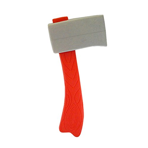 Amosfun Lumberjack Costume Bendy and The Toys Axe Throwing Game Axes Tomahawks Toy Hatchet Book Halloween Plastic Rubber Ax Prop Prop Accessory Kids for Holiday Performance Fire Fake Cleaver