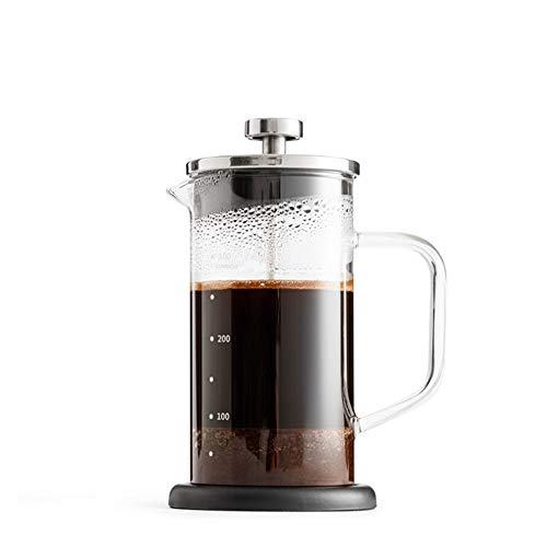 Vobajf Caffettiere a pistone Pressione Francese Filtro Pot Coffee Pot Domestica di Vetro Francese Pressione Pot for tè e caffè Filtro Cup cafetieres (Colore : Stainless Steel, Size : 350ml)
