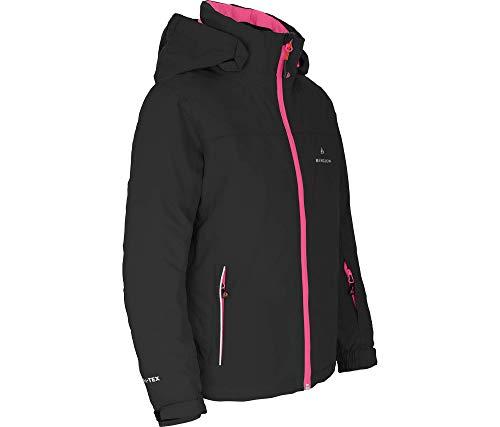 Bergson Kinder Skijacke LURA, Black/Fandango pink [9438], 116 - Kinder