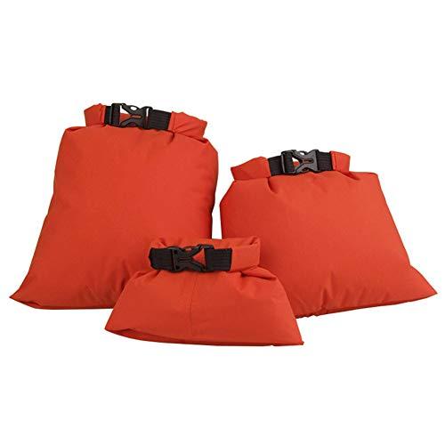 GYHH Paquete De 3 Bolsas Secas A Prueba De Agua Multicolores, Bolsas Secas Ligeras, Juego De Bolsas Secas Flotantes para Canotaje En Balsa (Orange)