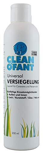 CLEANOFANT Universal-VERSIEGELUNG | 200 ml | Versiegeln Wohnwagen, Wohnmobil, Caravan | Für Lack, Gelcoat, GFK, Strukturblech, Wabenblech, Dach, Folie