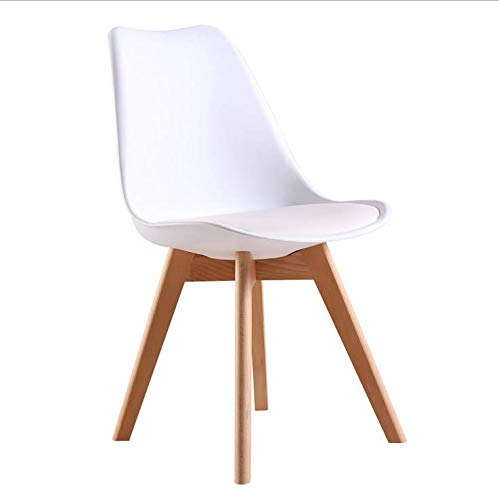 ArtDesign FR Silla Nórdica (Pack 4) - Silla Escandinava Blanca - Silla Nordic Scandi: Amazon.es: Hogar