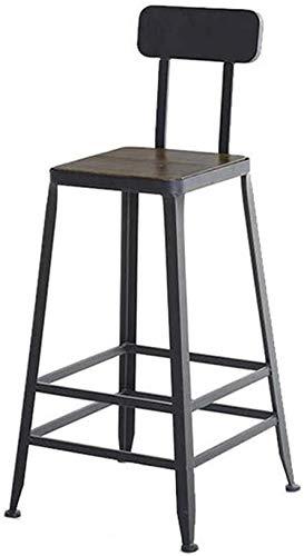 Barkruk bar hoogte barkruk metaal barkruk Nordic stijl smeedijzeren staafstoel hoge kruk van hout voor keuken ontbijt barkruk dubbellaags versterking lederen kussen (zithoogte 85 cm), kleur: #