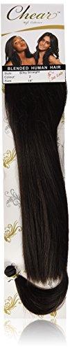 chear européenne soyeuse droite trame Extension de cheveux humains avec de mélange tissage numéro 2, marron foncé 35,6 cm
