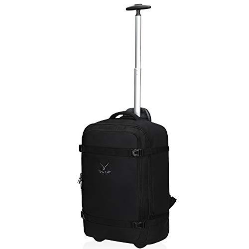 Hynes Eagle 42L Trolley Rucksack Reisetasche mit Rollen Handgepäck Handgepäckkoffer für Reisen und Business 17 Zoll 54x35x23cm (Grau 2, Rucksack)