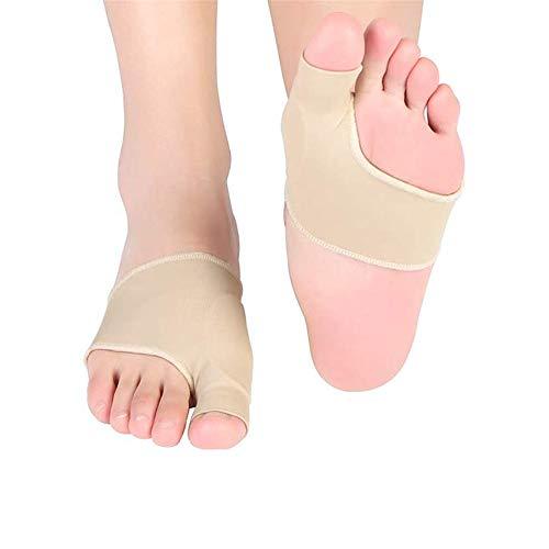2 Paar Hallux Valgus Bandage, Hallux Valgus Zehenspreizer Silikon Hammer Toe Corrector mit Eingebaut Gel-Pad, 2-in-1 Bunion Corrector Protektoren Nachtschiene Socken für Tag Nacht Schmerzlinderung