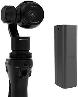 كاميرا دي جيه اي اوسمو المحمولة 4K بمقبض ذو ثلاث محاور مع بطارية دي جيه اي اوسمو اضافية