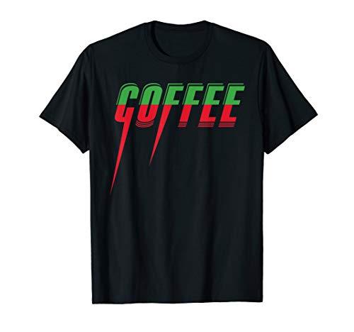 Kaffee Barista Coffein Cafe Design Buntes Spitz 2 Farben T-Shirt