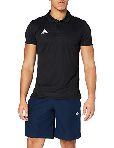 adidas Herren CORE18 Polo Shirt, Black/White, S