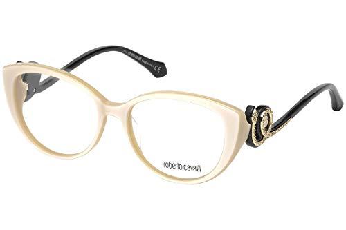 Roberto Cavalli Unisex-Erwachsene RC5039 Sonnenbrille, Weiß (Avorio), 54.0