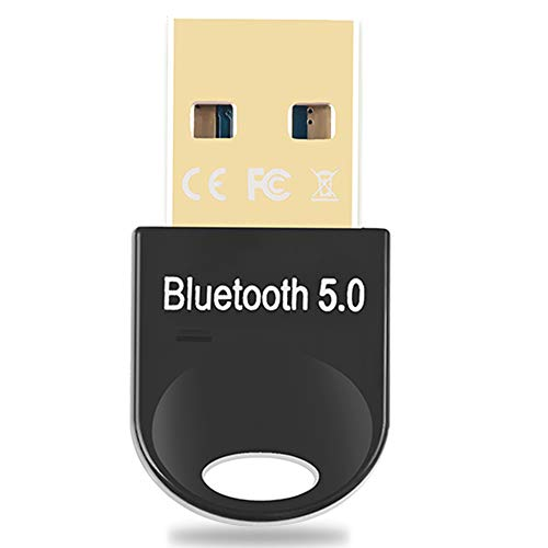 Yicente Adaptador Bluetooth 5.0 USB para PC Transmisor Receptor Bluetooth para Auriculares Altavoz Teclado Bluetooth Adaptador USB para PC Portatil Compatible con Windows 10 8 7 XP Vista
