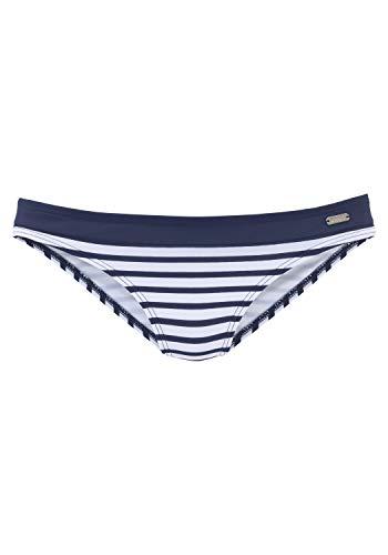 Venice Beach Bikini-Unterteil Mix-Kini, weiß-Marine, 46