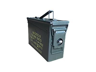 30 Cal Ammo Can with Lock kit Installed by ACM (Grade 2 30 Cal w/Locking Kit Installed)