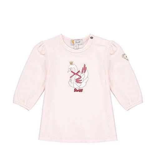 Steiff Baby-Mädchen mit süßer Teddybärapplikation Tunika, Rosa (Barely Pink 2560), 068