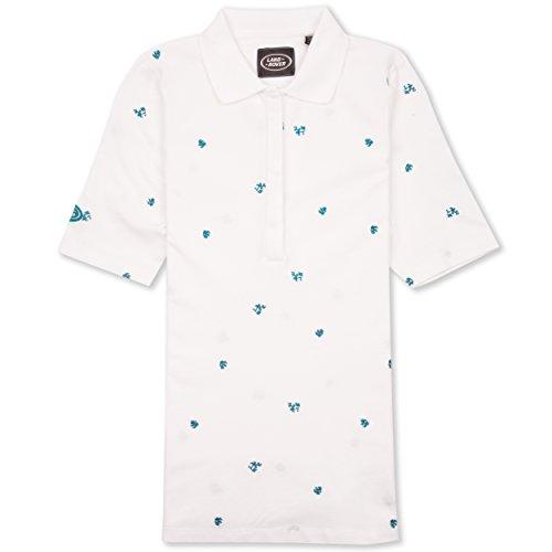 Land Rover Damen Bestickt Polo Shirt Einheitsgröße weiß