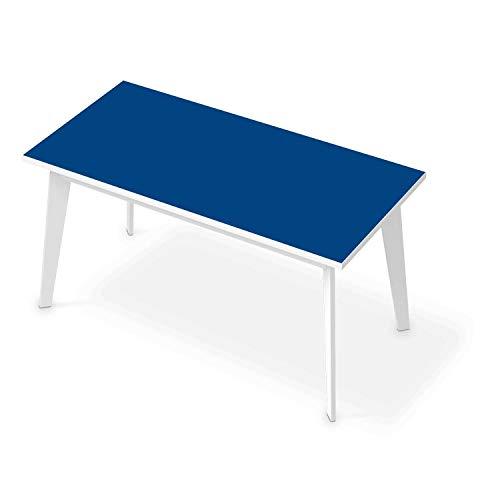 Tisch Sticker Dekoaufkleber I Tischaufkleber Folie - Möbelfolie abwaschbar I Dekoration Küchentisch - Farbe: Blau Dark