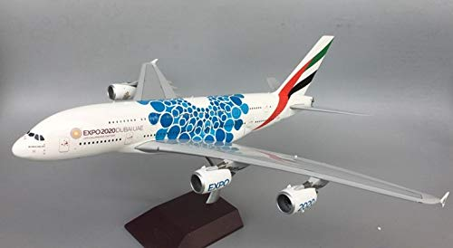 GeminiJets Emirates Airlines for Airbus A380 Blue Expo 1/200 diecast Plane Model Aircraft