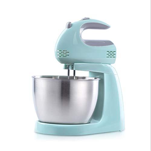 Elektrische Handmixer, 150W 5-Speed Mixer met 3L Roestvrijstalen Mengkom, Voedselmixer Kneedmachine Deegmixer Broodmixer Machine/Groen