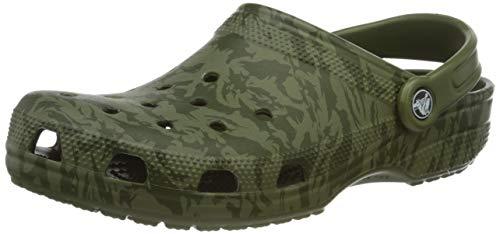 crocs Unisex Classic Printed Camo Clogs, Grün (Army Green 309), 39/40 EU