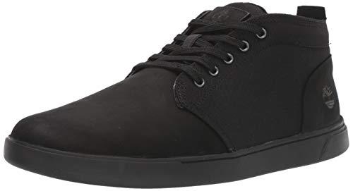 Timberland Herren Groveton LTT Chukka Leather & Fabric Sneaker, Schwarz (schwarzes Nubukleder), 41 EU