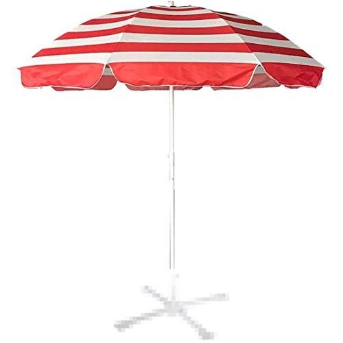 SHBV Housewares Sombrilla para el Sol Sombrilla para jardín 2.4m Sombrilla de Playa a Rayas con Marcos de Soporte Reforzados de Metal de Tres Capas y 8 para cafetería al Aire Libre balcón p