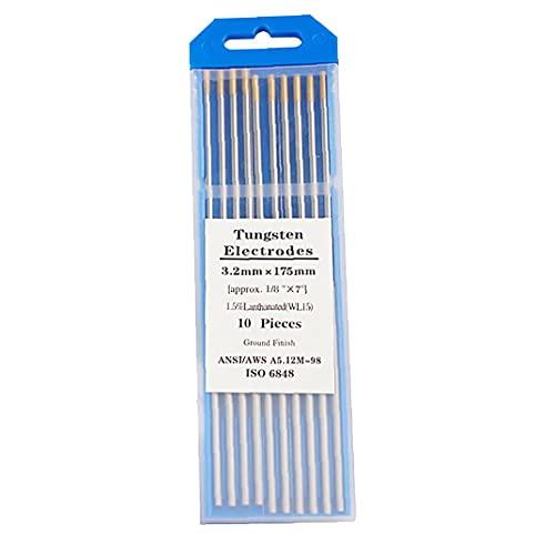 """Tungsteno varillas de soldadura TIG de tungsteno agujas lantano electrodos de tungsteno 3/32"""" Herramientas de oro Cabeza de soldadura WL15"""
