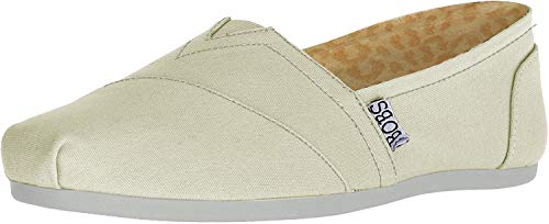 BOBS from Skechers Women's Plush Peace and Love Flat,Natural,8.5 M US