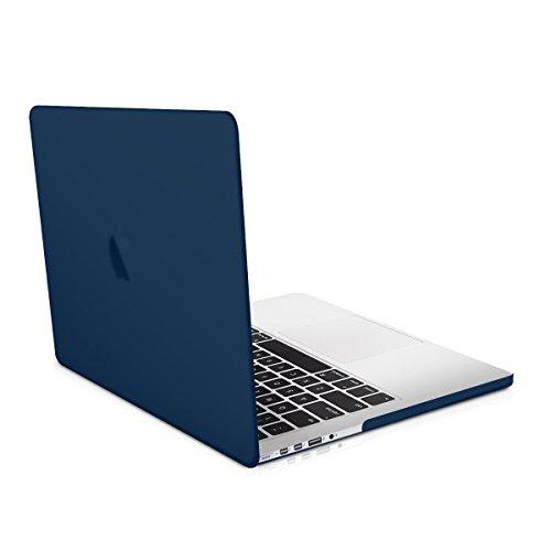 kwmobile Carcasa Dura de Laptop Compatible con Apple MacBook Pro Retina 15' (a Partir de principios de 2013) - Azul Oscuro - Funda Fina de Goma