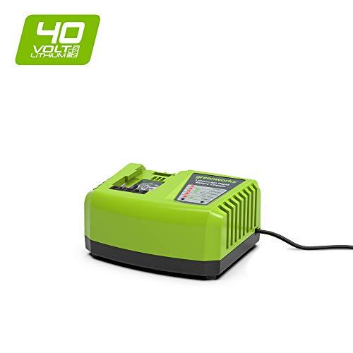 Greenworks Akku-Schnellladegerät G40UC4 (Li-Ion 40V 4A 30min Ladezeit bei 2Ah Akku passend für alle Geräte und Akkus der 40V Greenworks Tools Serie)
